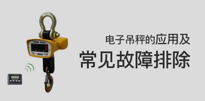 电子吊秤的应用及常见故障排除