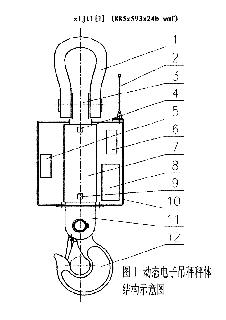 图1 动态电子吊秤秤体示意图