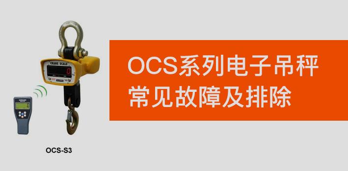 OCS系列电子吊秤常见故障及排除